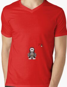 Halloween Penguin - Skellybones (Skeleton) Mens V-Neck T-Shirt