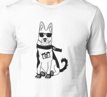 Hipster German Shepherd / Alsatian - Cute Dog Cartoon Character Unisex T-Shirt