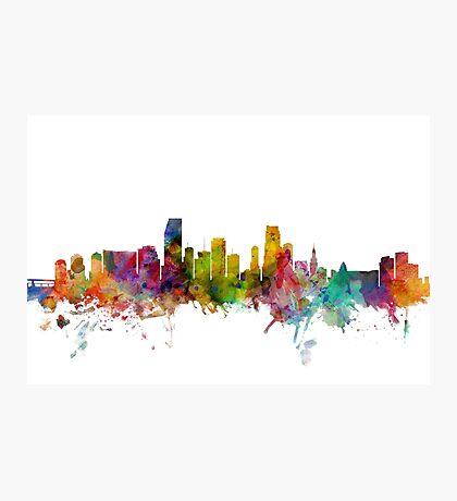 Miami Florida Skyline Photographic Print