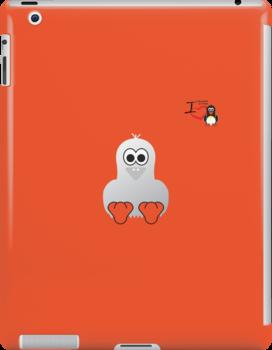 Halloween Penguin - Ghost by jimcwood