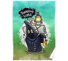 Traveling Light Cartoon Character Poster