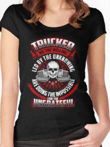 trucker Women's Fitted Scoop T-Shirt