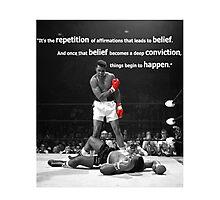 Muhammad Ali Quote Photographic Print