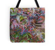 blue berries in the garden Tote Bag