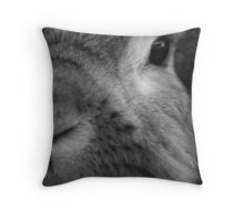 A really friendly rabbit Throw Pillow