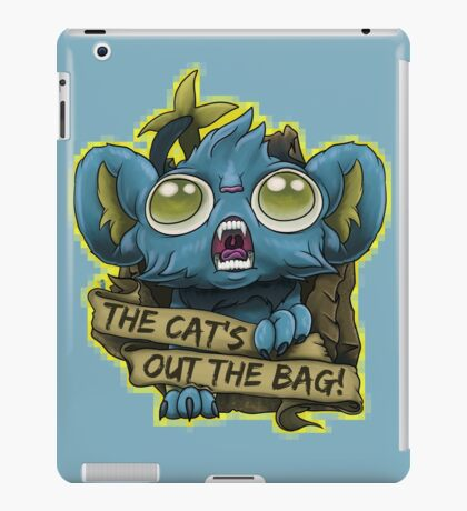 """Shinks """"The Cat's Out The Bag!"""" iPad Case/Skin"""