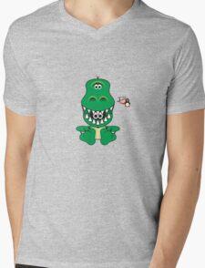 Hero/Icon Penguin - Rex Mens V-Neck T-Shirt