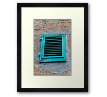 old an abandoned window Framed Print