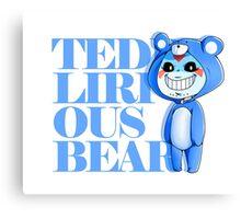 Teddy Lirious Bear Canvas Print