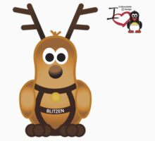 Christmas Penguin - Blitzen Kids Tee
