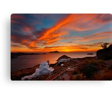 One more sunset in Milos Canvas Print