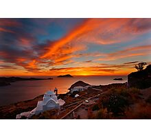 One more sunset in Milos Photographic Print