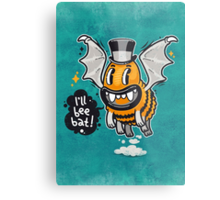 Cartoon Monster I'll Bee Bat Metal Print