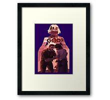 are you afraid of god? Framed Print