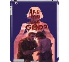 are you afraid of god? iPad Case/Skin