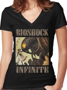 Bioshock infinite cool bird Women's Fitted V-Neck T-Shirt