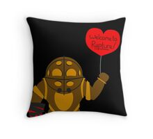 Bigdaddy welcome to rapture Bioshock Throw Pillow