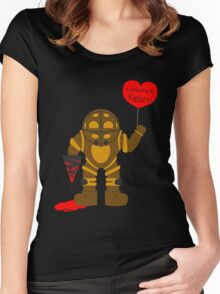 Bigdaddy welcome to rapture Bioshock Women's Fitted Scoop T-Shirt