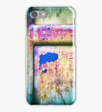 Blue in rusty door iPhone Case/Skin