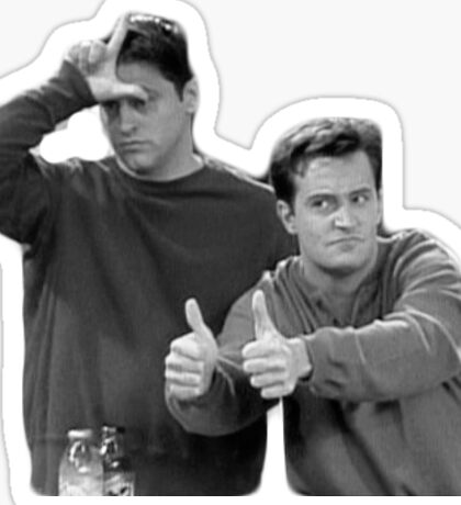 Joey and Chandler Thumbs Up Sticker