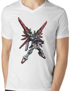 Destiny Gundam Mens V-Neck T-Shirt