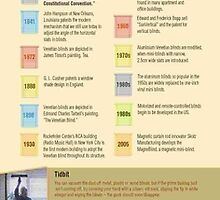 An Infographic on the History of Window Blinds and Shades by Infographics