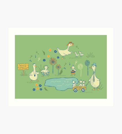 Dandi Ducks Art Print