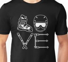 Skiing Love Unisex T-Shirt
