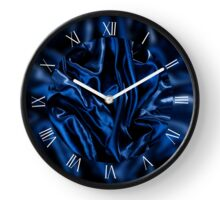 Dark blue crumpled satin cloth Clock