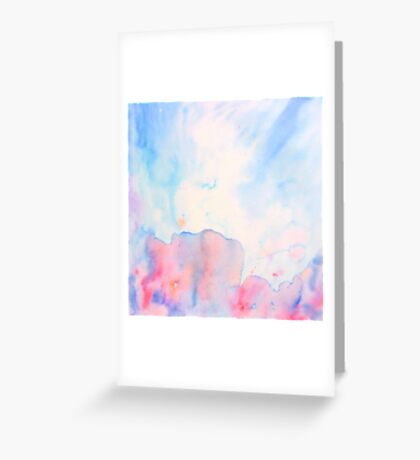 Watercolour abstract landscape painting Greeting Card