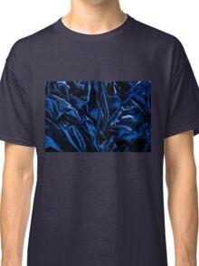 Navy blue glossy crumpled satin Classic T-Shirt