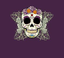 Vintage Skull and Flowers Womens T-Shirt