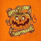 Halloween orange by limeart