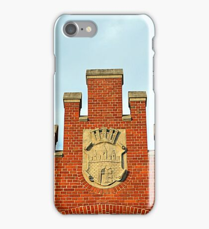 Old Market Hall with a Coat of Arms of Bydgoszcz, Poland iPhone Case/Skin