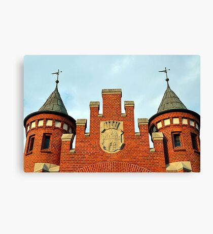 Old Market Hall with a Coat of Arms of Bydgoszcz, Poland Canvas Print