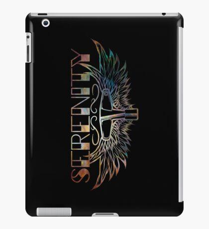 Serenity Drums Blue Nebula Logo - Black iPad Case/Skin