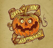 Halloween dark khaki by limeart