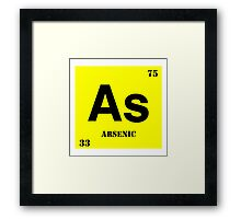Arsenic Framed Print