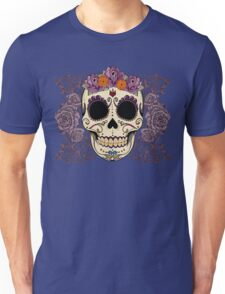 Vintage Skull and Roses Unisex T-Shirt