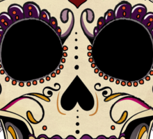 Vintage Skull and Roses Sticker