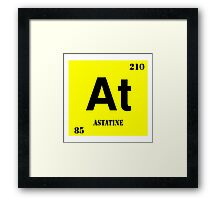 Astatine Framed Print