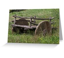 old wooden wagon Greeting Card