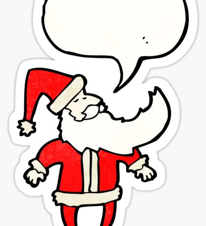 santa claus cartoon character Sticker