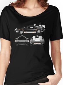 Delorean DMC Back to the Future Women's Relaxed Fit T-Shirt