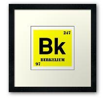 Berkelium Framed Print