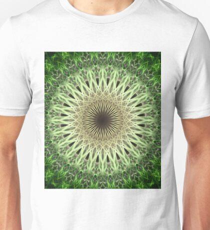 Green and golden mandala Unisex T-Shirt