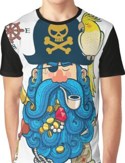 Pirate Portrait Graphic T-Shirt