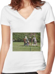 Medieval Fighters Women's Fitted V-Neck T-Shirt