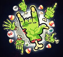 Cartoon Zombie Hands by Voysla