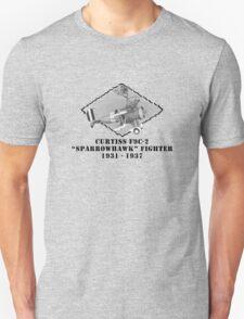 """U.S. Navy - Curtiss F9C-2 """"Sparrowhawk"""" Fighter T-Shirt"""